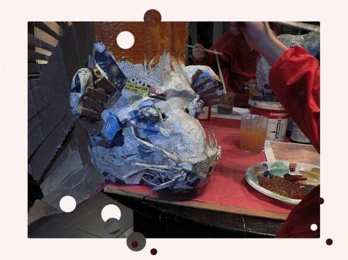 isabelle thibeault,masques de papier mâché,animaux,nature