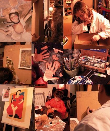 chefs d'oeuvre,créations des adultes,création des enfants,peinture,tableaux,dessins,papier mâché,construction