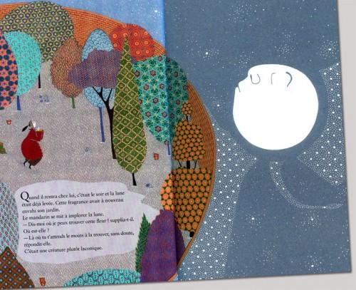 la fleur du mandarin,lecture,sandrine thommen,bahiyyih nakhjavani,idée lecture,illustration,belle histoire
