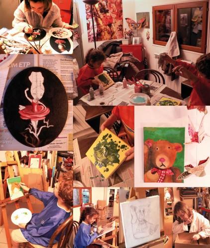 chefs d'oeuvre,créations des adultes,création des enfants,peinture