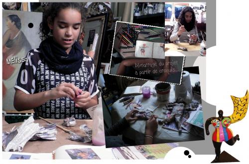 niki de saint phalle, la femme ange, papier mâché, peinture acrylique