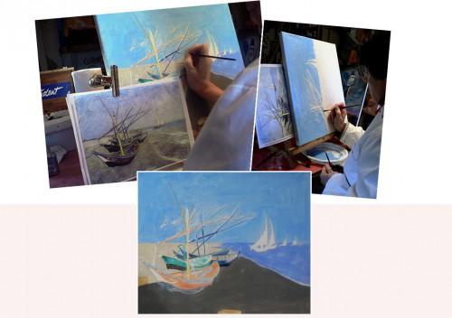 peinture acrylique,peinture à l'huile,couleurs,tableaux,reproduction,edward hopper,van gogh,louis toffoli,eric puybaret,nicoletta ceccoli