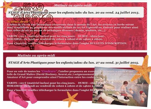 vacances d'été,stages de juillet,stages d'été,stages d'arts plastiques,stage de graphisme,brunoy,yerres,montgeron,epinay soussénart,mandres les roses,brie comte robert,dessin,sculpture,peinture,papier,carton,couleur,atelier tintoretto