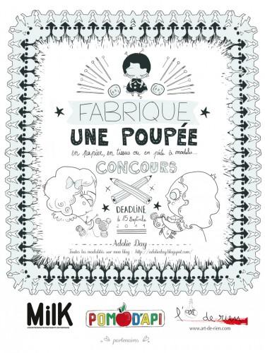 Concours de poupée, Adolie Day, Pom d'Api, Milk,L'Art de Rien, Cadeaux